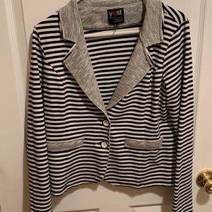 Black and white stripped blazer